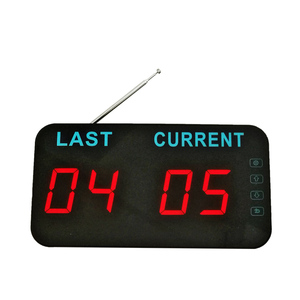 433.92mhz Number with Counter Display Buzzer Professional Simple Queue Manage System