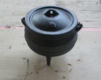 cast iron potjie pot size 1/2