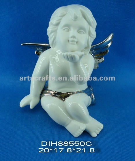 Porcelain angel figure