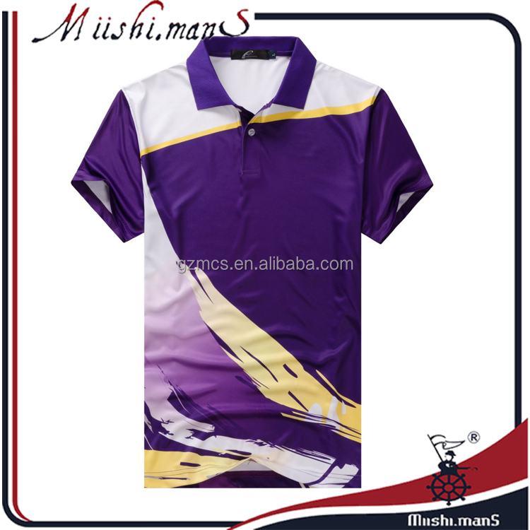 allovr dyed sublimation printing jersey polo shirt