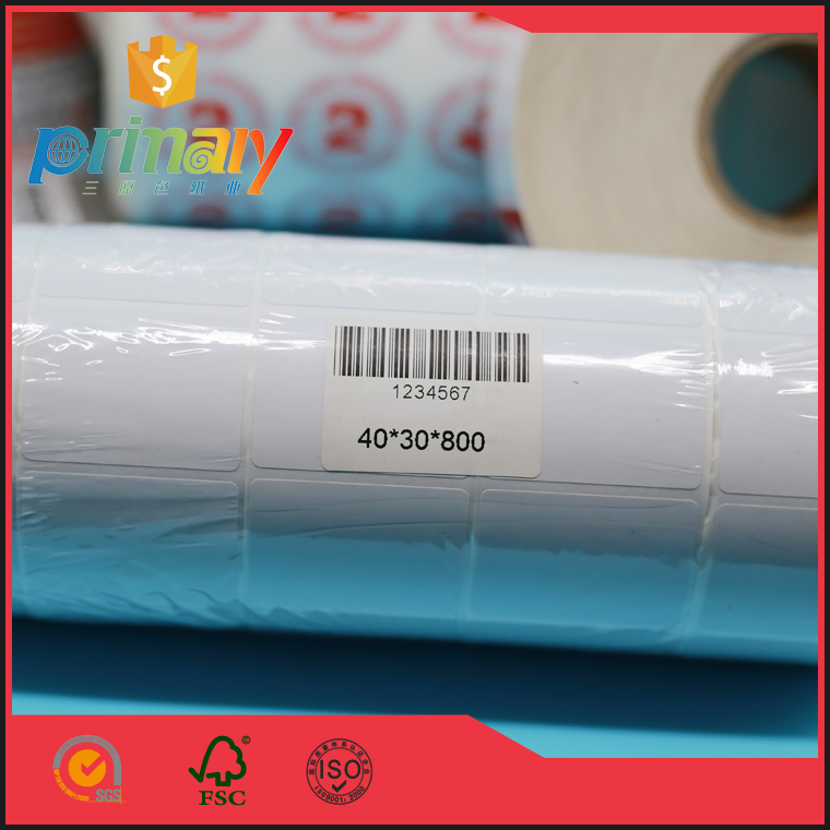 Self adhesive thermal barcode labels sticker inkjet paper in roll alibaba china