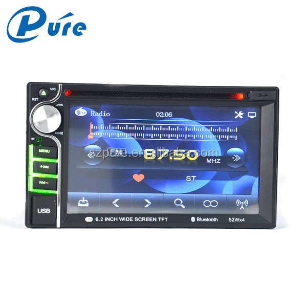 "DVD Player Input 12V DVD Auto 6.2"" TFT Screen with Bluetooth and Reversing Function"