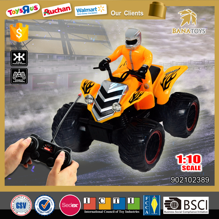 Free Shipping New rc motorcycle toy 1:10 4 wheel motorcycle for sale