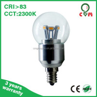 2014 New design led e11 base bulb 5w light bulb with CE ROHS
