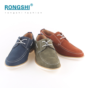 China shoes factory latest fancy fashion office leader business casual driving top sider deck boat men shoes genuine leather