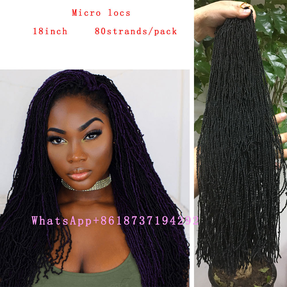 Synthetic Micro Faux Locs Crochet Braids 18 80rootspack Afro