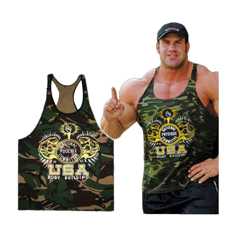 953f67c313b71d 2017 New clothing Singlets Camouflage Tank Tops Shirt Bodybuilding  Equipment Fitness Men s Golds T-shirt Stringer WAIBO BEAR - Deal of The Day  Deal of The ...