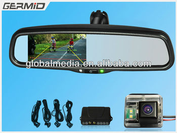 4 3 Inch Tft Lcd Color Monitor Rear View Mirror With Special Anti