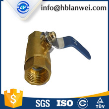 alibaba hot sale brass float ball valve with NPT for water