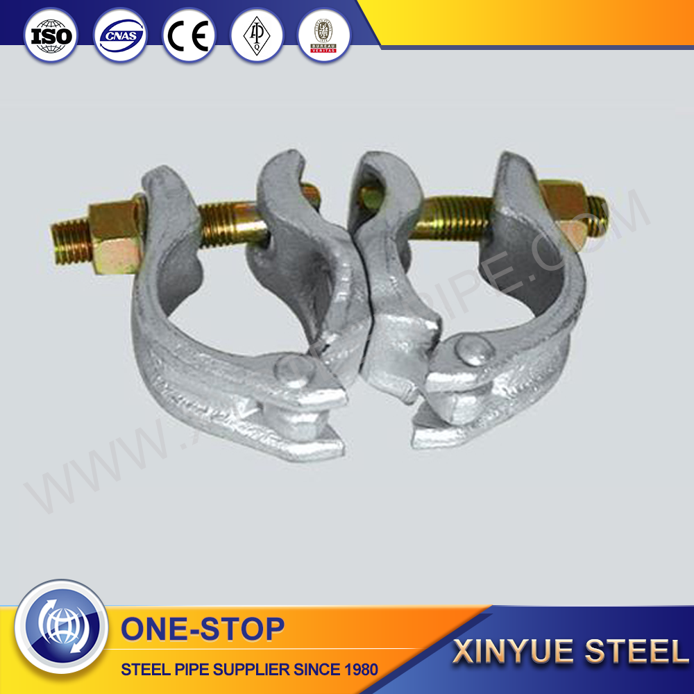 Quality Assurance bs 1139 swivel forged scaffolding clamp double coupler