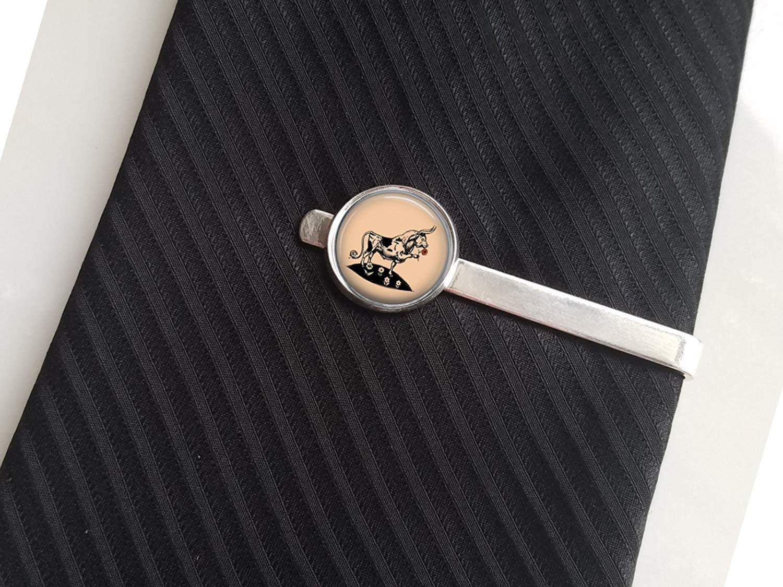 7442c064cbc6 Get Quotations · Ferdinand Tie Pin Tie Clip Ferdinand Lapel Pin Silver Tie  Clip