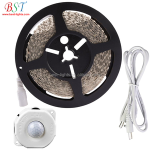 bed led motion sensor led strip light set 2835 warm white for stairway, living room, baby room