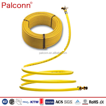 High temperature resistant ISO 17484 yellow color PE AL PE gas pipes for natural gas
