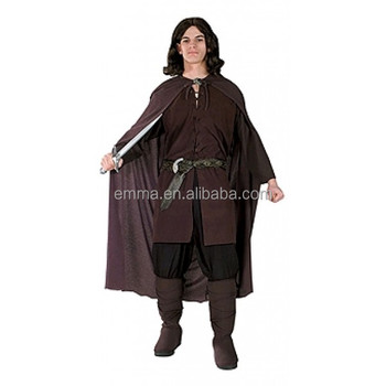 Adult Lord Of The Rings Aragorn Mens Halloween Fancy Dress Costume BMG17082