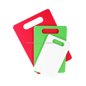 hot selling colored solid large and mini cheap rectangle plastic cutting board/ chopping blocks