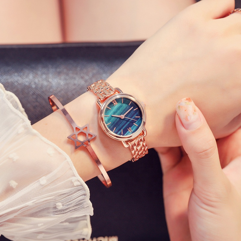<strong>Hot</strong> Selling Marble Dial And Stainless Steel Mesh Strap Women Watch Custom Male Marble Face Watch