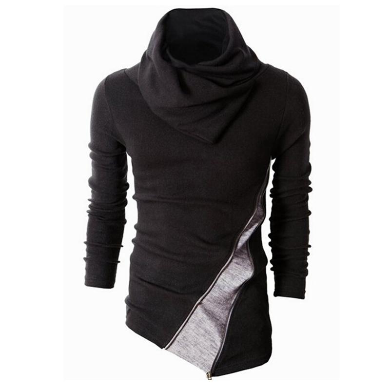 FORUU Autumn Winter Casual Splicing Long Sleeve Top Blouse Sweatshirt Mens Hoodies
