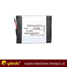 Itel <span class=keywords><strong>bL</strong></span>-25BI 2500 mAh batería del <span class=keywords><strong>teléfono</strong></span> móvil de China