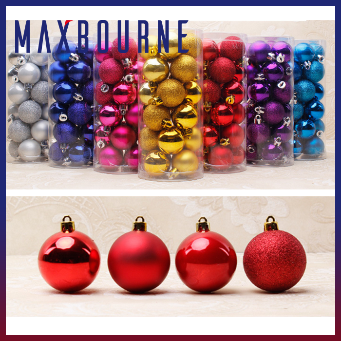 hotselling colorful plastic christmas decoration balls for Christmas tree