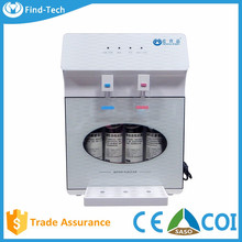 4 stage countertop reverse osmosis water purification machine water dispenser hot and cold water filter