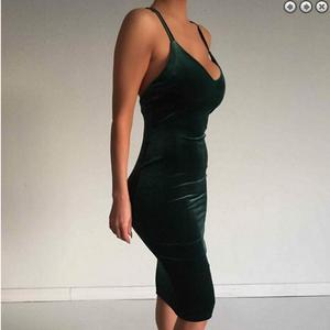 2018 Western new style V-neck ladies slip clothes fashion female garments