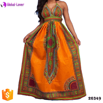Modern African Party Dresses Ladies Long Maxi Evening