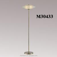 Hand Blown Glass Floor Pole Lamp For Living Room