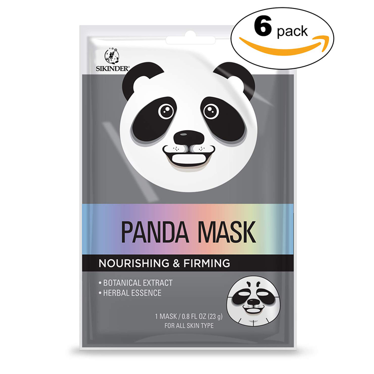 Oem custom organic private label animal shape hydrating facial mask