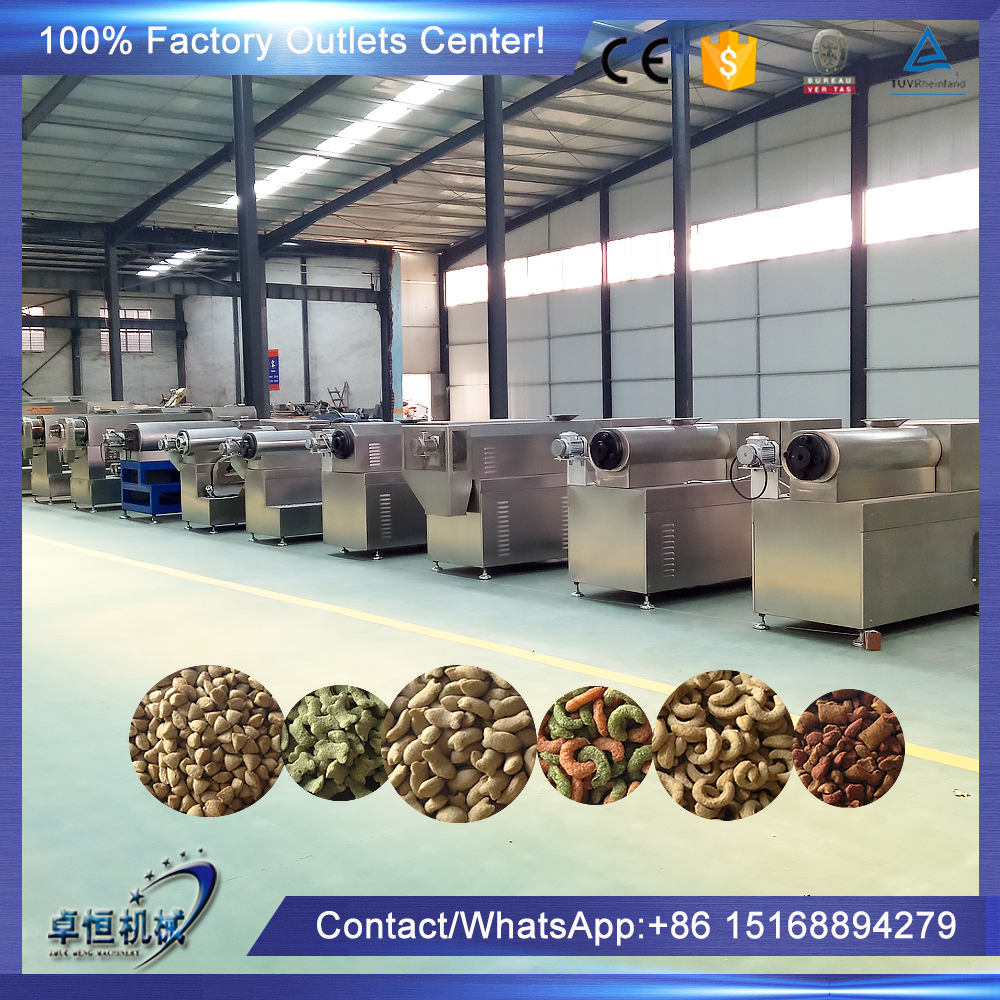 Hot sale extruded pet food pelletizer extrusion machine for dog cat fish