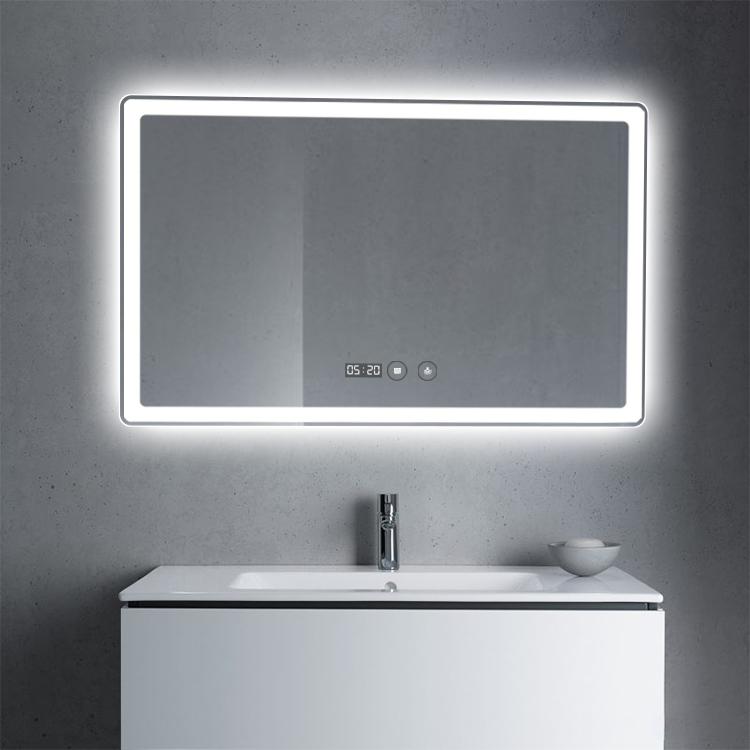 Rectangular edge smart mirror touch switch sensor for bathroom mirror led light wholesale price