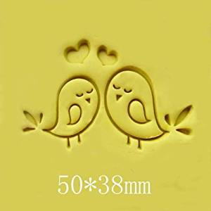 Love Bird Pattern Mini Diy Soap Stamp Chapter Seal 5*3.8cm