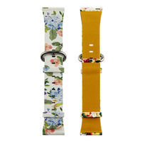 PU leather print strap for apple series 4 watch band