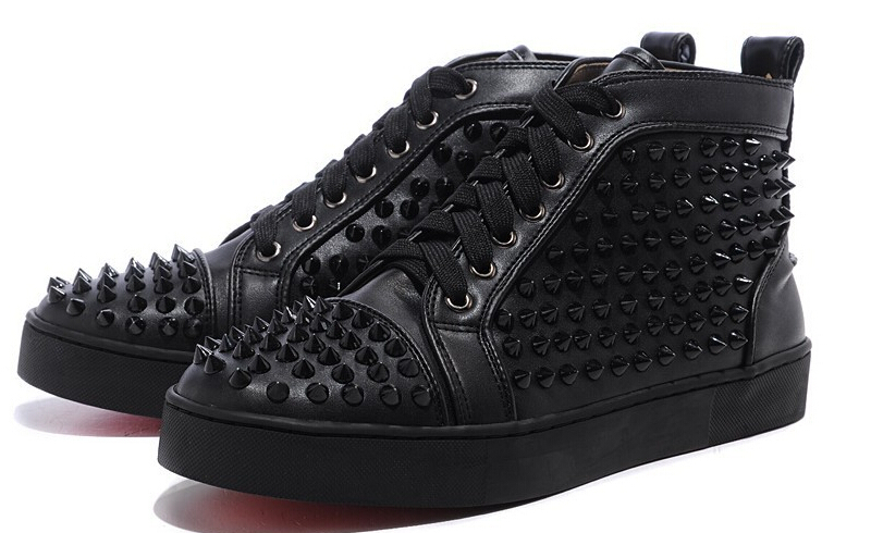 top fashion high quality red bottoms men shoes genuine leather flat man sneakers spikes red bottom women shoes women sneaker