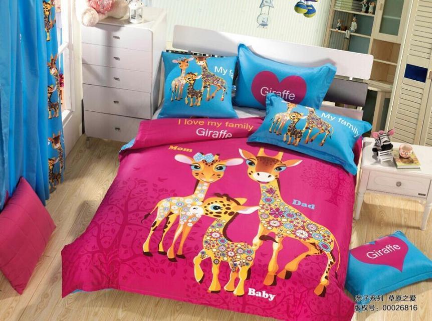 Cute Giraffe Bedding Set Quilt Duvet Covers Sheets Kids