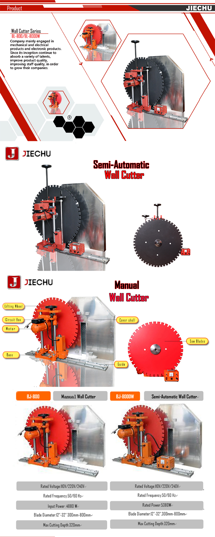 Semi Automatic Used Concrete Wall Cutting Machine Track Saw For Sale