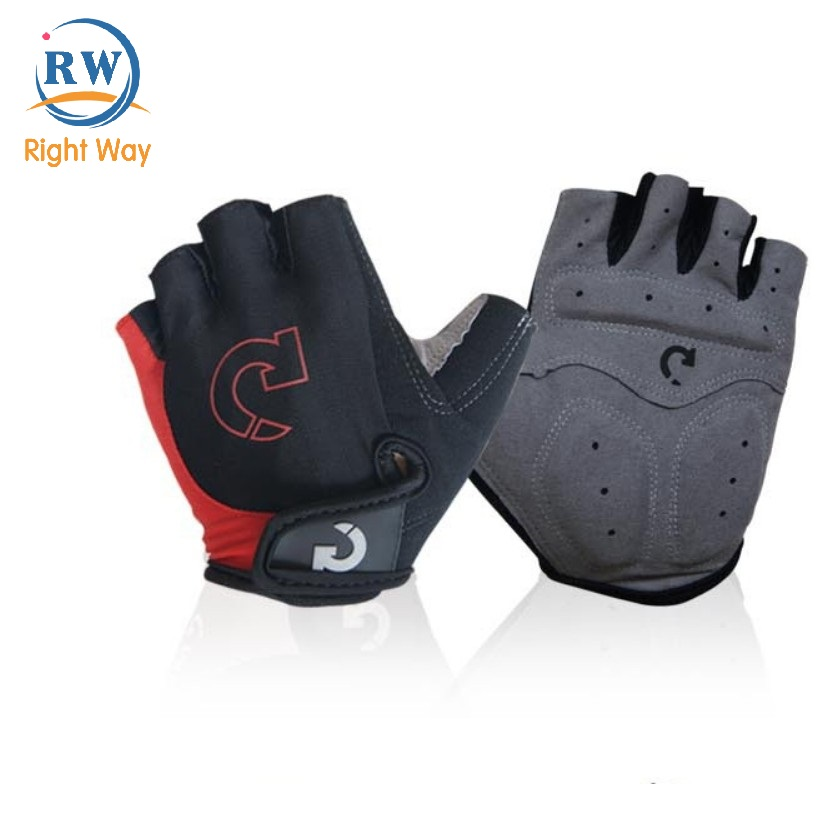 4 Colors Soft Breathable Lightweight Half Finger Cycling Bicycle Gloves
