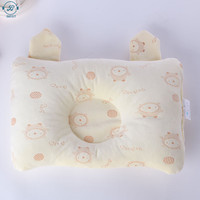 Small Custom Cotton Anti Roll Sleep Nursing Memory Foam Flat Head Shape Support Baby Pillow Manufacturer For Newborn