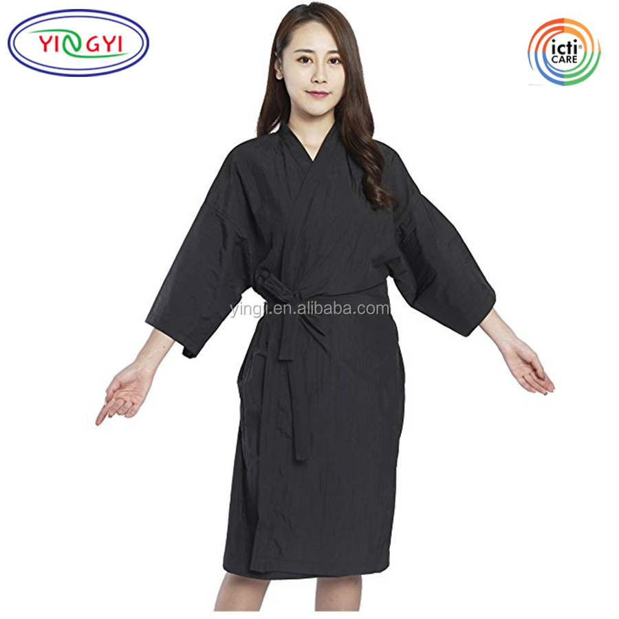 G448 Women Used Customized Product Salon Cape Client Hair Salon Smocks Gowns Kimono Style