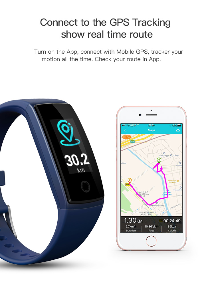 Original Fitness Activity Tracker BT 4.0 Smart Sport Watch with heart rate monitor