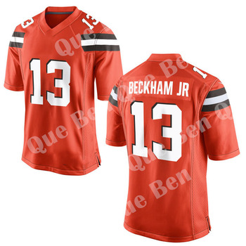 2019 New 13 Odell Beckham Jr 6 Baker Mayfield Custom American football Jersey