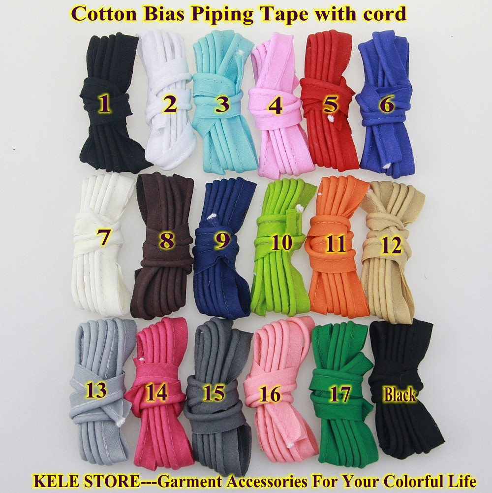 Free Shipping 100% Cotton Bias Piping, Bias Piping Tape