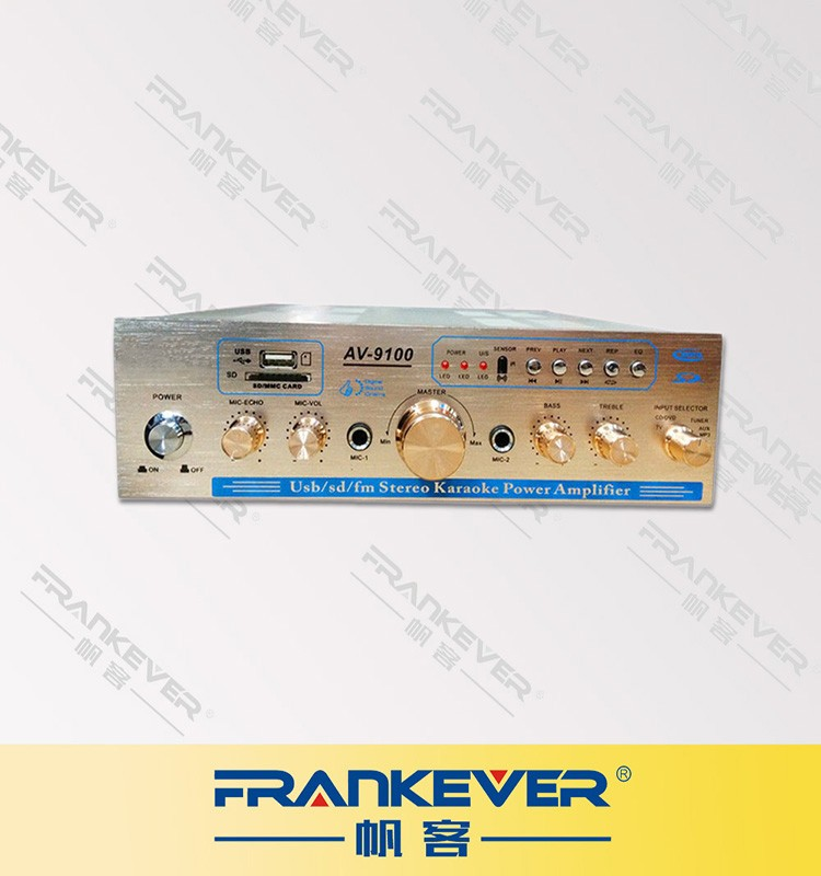 Frankever inicio amplificador USB/TF/CD/VCD/TV HiFi digital amplificador de energía audio estéreo