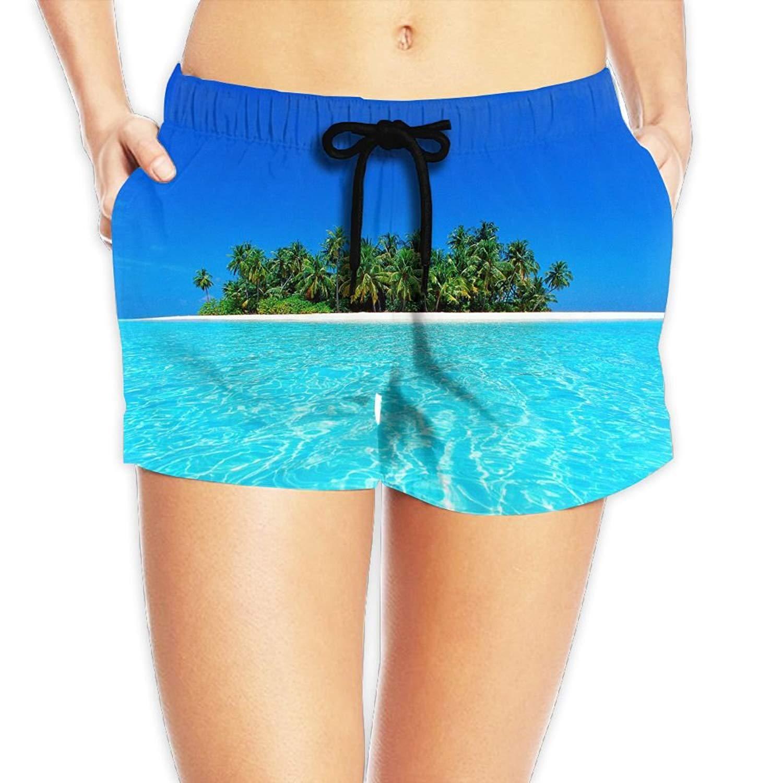 522efc0722 Get Quotations · Kurabam Womens Beach Shorts, Ocean Beach Lounge Shorts for  Women Girls, Outdoor Short Pants