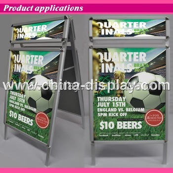 Fine appearance retail shop poster stand/poster rack a6 display