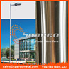 round conical stainless steel mirror solar lamp post