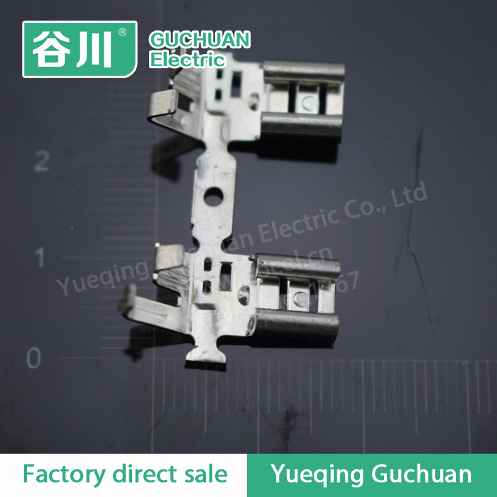 Chain Self-locking insert spring brass terminal lugs 250 Flag terminal connectors belt buckle DJ6225-J6.3D