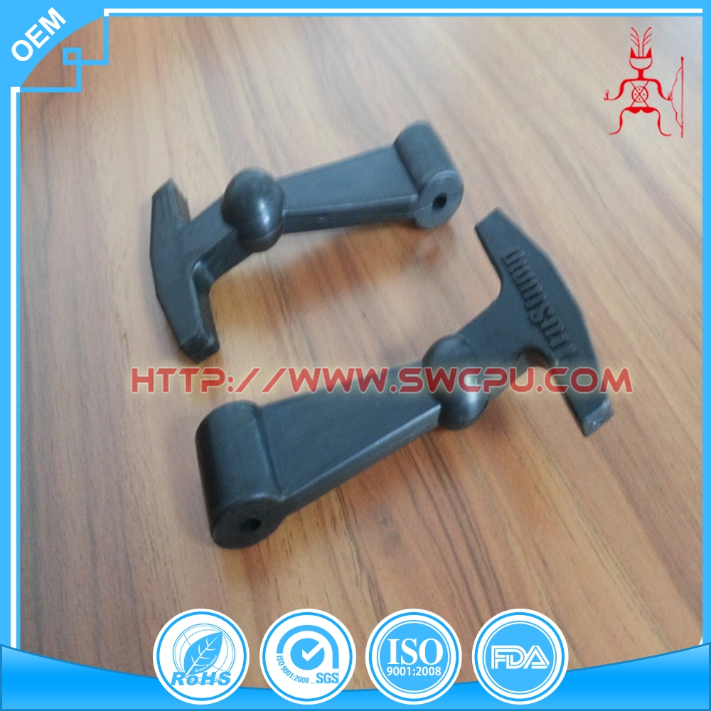 Rubber toggle latch lock/ T-shaped rubber latch