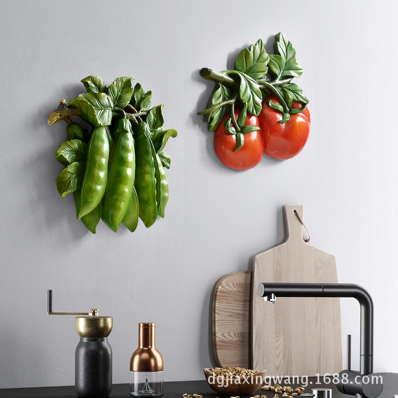 most creative whole sale indoor 3D exquisite vegetables fruit gift <strong>wall</strong> hanging