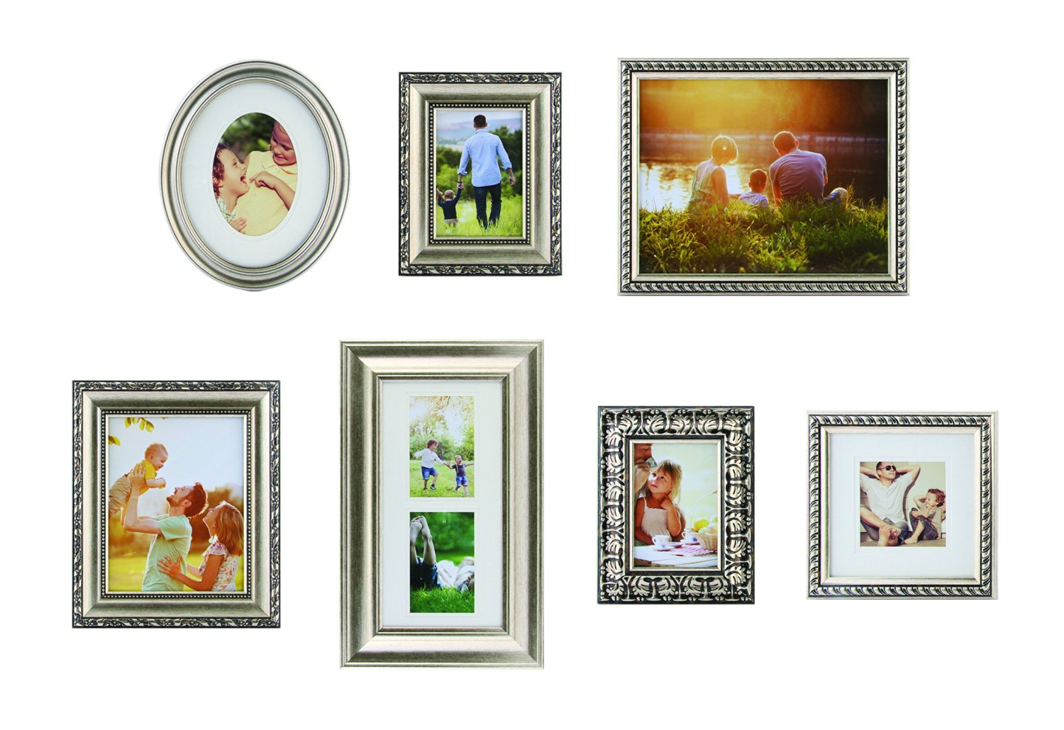 Buy Gallery Perfect 7 Piece Frame Set, Champagne in Cheap Price on ...