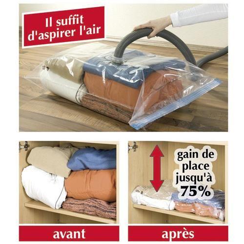sac à linge gain de place/compactor sachet de compression sous